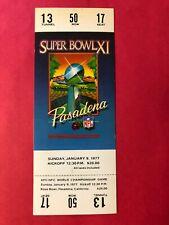 1977 SUPER BOWL XI COMPLETE FULL TICKET EX-MINT OAKLAND vs. MINNESOTA