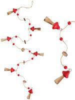 Red Dot Toadstool Christmas Garland Woodland Xmas Decoration Festive Fairytale