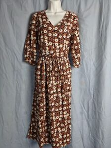 Seasalt Size 14 Newtown Scratchy Floral Slipware Dress Brand New with Tags