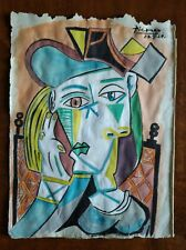 Drawing watercolor signed Pablo Picasso