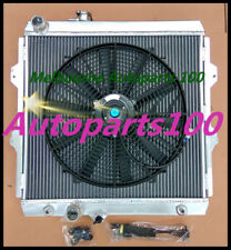 For Hilux radiator + fan LN147/LN167/LN172 Diesel 3.0L 5LE Engine Aluminum