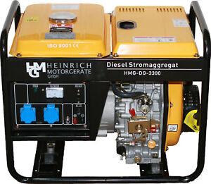 Diesel Stromerzeuger Notstromaggregat Stromaggregat 230V HMG-DG-3300 Generator