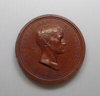 """1802 France - Napoleon """"Safe From Assassins"""" Medal, Br.-77."""