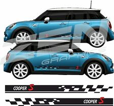 BMW 2018  Mini Cooper S Side stripes Decals Stickers Graphics any colour 5 door