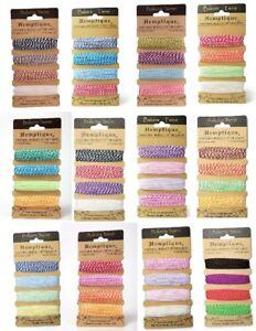 Hemptique 2-PLY Cotton Bakers Twine, Set of 4 Colours (4 x 9.1mtr)