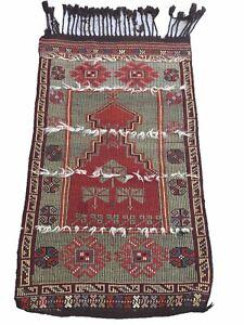 Antique Turkish Kilim Rug, Oriental Rug, Tribal Hand Woven Rug,  4.6'x 2.7'