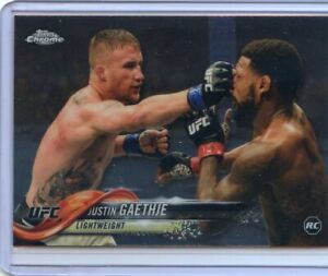 2018 TOPPS UFC CHROME ROOKIE RC JUSTIN GAETHJE #71
