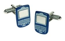 Blue Blackberry Terminal Mobile Phone Cuff Links Cufflinks  NEW in BOX  12119