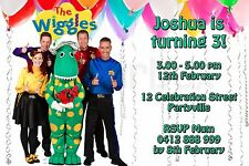 Printable Invite Personalised The Wiggles Invitation Dorothy JPEG You Print