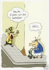 "Postkarte, Cartoon / Satire ""Borussia vs Schalke"""