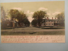 1905 WINTROP ST. AND OLD LADIES HOME AUGUSTA MAINE. POSTCARD 2B16