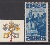 VATICANO 1935 Congresso Giuridico 1,25 Lire Sassone n.46 cv 150$ MH*