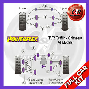 Fits TVR Griffith - Chimaera All Models Powerflex Complete Bush Kit