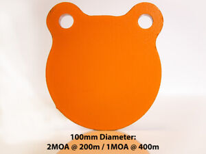"""100mm (4"""") AR500 12mm (1/2"""") Thick Steel Gong Rifle Target"""
