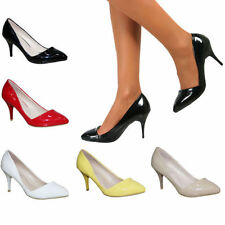 High (3 in. and Up) Stiletto Leather Pumps, Classics Heels for Women