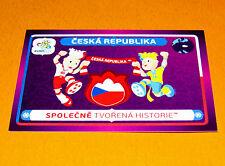 33 MASCOTTES CESKA REPUBLIKA CESKO TCHEQUIE FOOTBALL PANINI UEFA EURO 2012