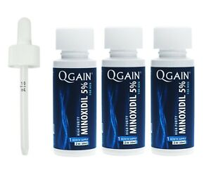 SALE - Qgain High Purity Minoxidil 5% for MEN 3 month supply - SALE