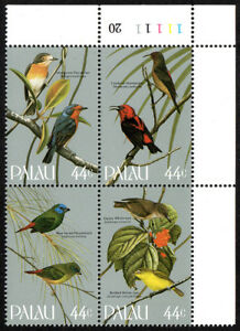 Palau 99-102a Bl/4,MNH.Songbirds.Flycatcher,Cardinal honeyeater,Parrotfinch,1986