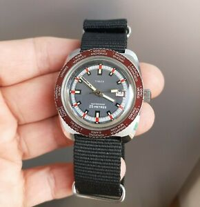 Vintage Timex GMT World Time Watch 1970's 1980's