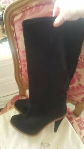 stunning Opening Ceremony black knee high suede boots