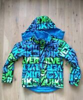 Quicksilver Boy Girl Ski Jacket Size 12 Blue Black Neon Green Quiktech 10.000MM