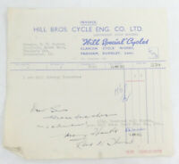 Vintage Collectable Sales Receipt 1950s R.W. Horner Ltd Manchester- Hill Bros