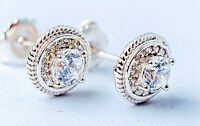 925 Sterling Silver Jewellery  Lab Created Diamond Man/Women Stud Earrings