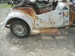 MG TD  BodyTub Project  with Parts  Californian Dry Climate Rust free for parts