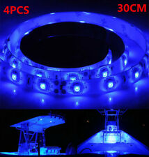 4x 12V 30cm 1FT 15SMD Flexible LED Strip Light Waterproof For Car Truck Boat