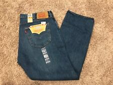 NWT Levi's 501 44x32 Straight Leg Button Fly Blue MSRP $69.50 Style 501-2308