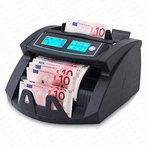 Geldzählmaschine Geldzähler Geldprüfer  UV / MG / IR 2 blue LCD  Vorführgeräte