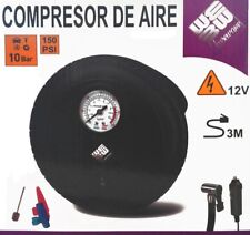 COMPRESOR DE AIRE PARA MECHERO COCHE 12V 10 BARES 150 PSI ELECTRICO RUEDA BICI