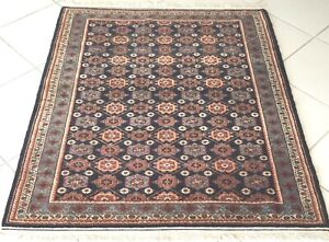 Perserteppich Veramin Handgeknüpft Orient Teppich Blau Carpet Rug Alfombra Tapis