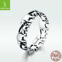 The Elephant Family 925 Sterling Silver Finger Ring Warm Love For Beautiful Girl