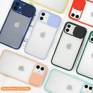 Slide Camera Lens Protector Case For iPhone 12 11 Pro Max XS XR 6 7 8 Plus Soft