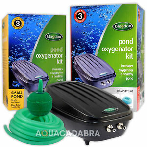 Blagdon Pond Oxygenator Kit Air Pump Air Line Air Stones Complete Aeration Fish