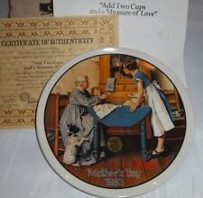 1983 Mothers Day Add 2 Cups & a Measure of Love Norman Rockwell Collector Plate