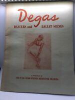 Edgar Degas Ballet Dancer Prints - 6 Beautiful Prints Vintage Portfolio Print