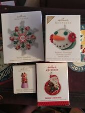 Hallmark Keepsake Treat Tree Ornament Lot Of 4 Savory Snowflake Cupcake Gumdrop