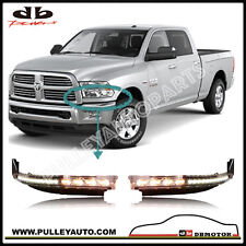 DBMOTOR Ram Front Upper Bumper Trim With LED Daytime Running Light & Indicator