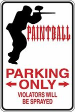 Paint ball Parking Only Funny Novelty Stickers JDM Euro Med SM1-421
