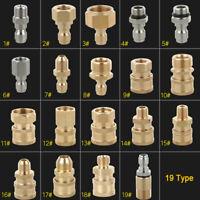 19 Types Raccord de Coupleur Pistolet et Tuyau Pour Nettoyeur Haute Pression
