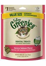 Feline Greenies Dental Treats 5.5 oz Salmon   Vet Recommended For Cats