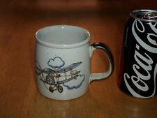 WORLD WAR #1 BIPLANE AND WEATHER BALLOON, Ceramic Coffee Cup / Mug, Vintage