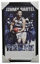 Jimmy Bartel Signed Geelong 300th Game AFL Lithograph Print Framed - AFLPA COA