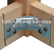 1 Set Corner Brace Brackets Tables Legs Chairs Fixing Bolts Nuts Screws FREE P&P