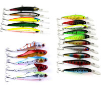 Lot 20pcs Assorted Minnow Fishing Lures Set Bass Crankbait Bait Hook Tackle KY