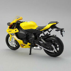 1:18 Scale Yamaha YZF-R1 Motorcycle Model Diecast Bike Model Toy Kid Gift Yellow
