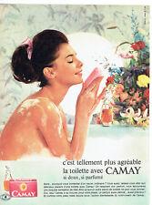 Publicité Advertising 018  1963  savon de toilette  Camay