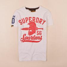 Superdry Herren T-Shirt Shirt Classic Gr.XS Spartans Vintage Weiß 74311